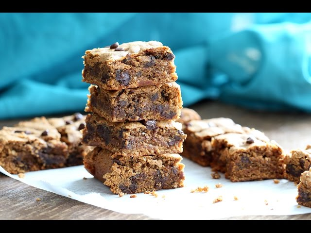 Almond Butter Blondies  - Gluten free Vegan
