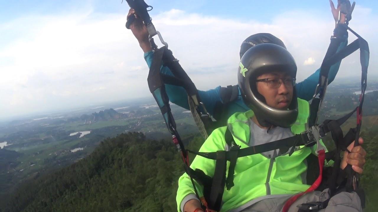 Bay Đôi dù lượn Đồi Bù - Paragliding tandem flight near Hanoi