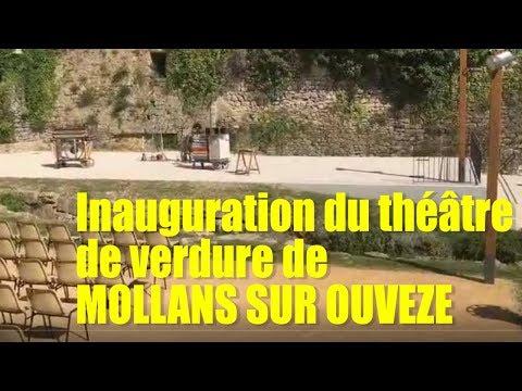 inauguration du théâtre de verdure de MOLLANS SUR OUVEZE
