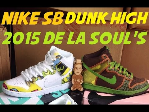timeless design 26452 a3aa8 2015 Nike SB Dunk High De La Soul White Firefly Sneaker Review + On Feet +  Comparision With  DjDelz - YouTube