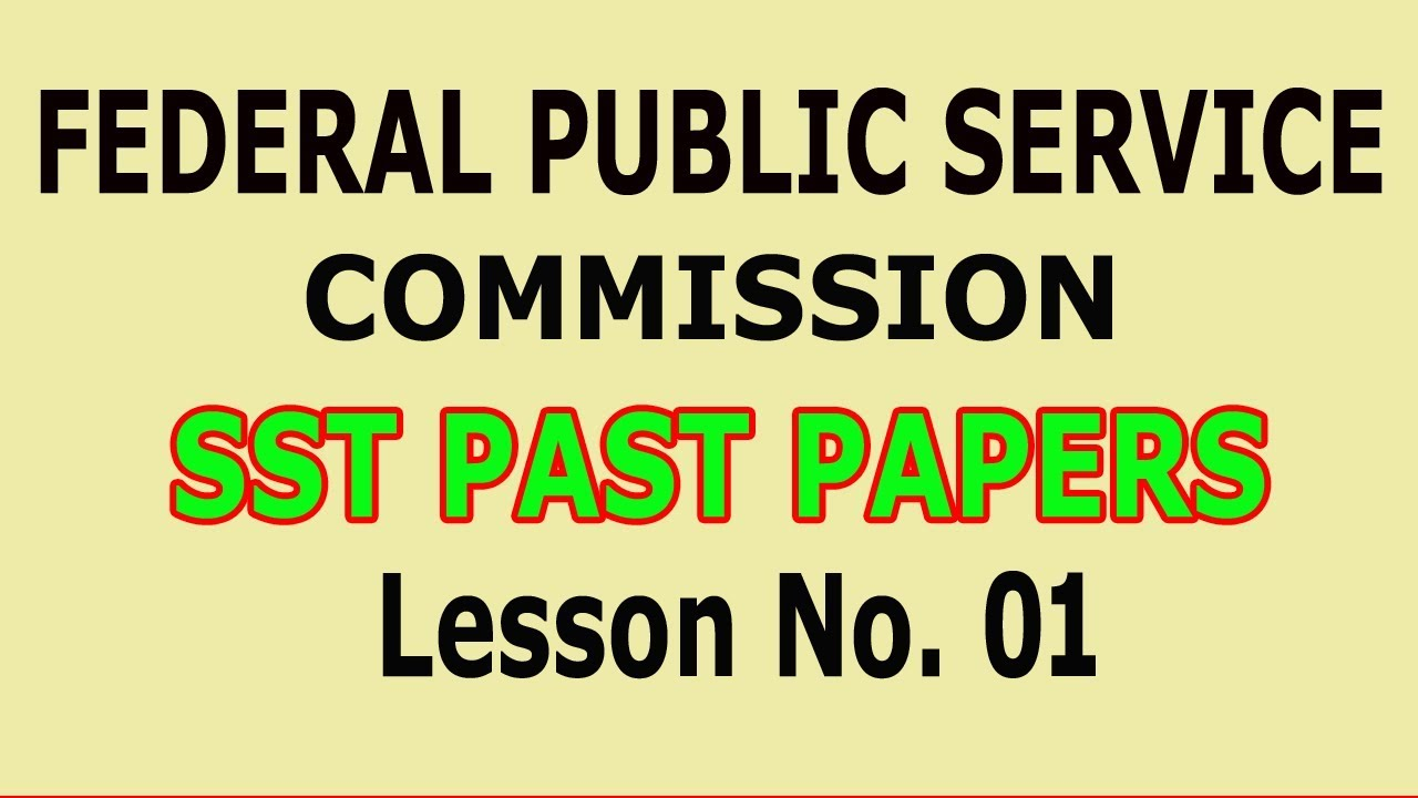 (Pedagogy) SST past papers (FPSC) Lesson no  01