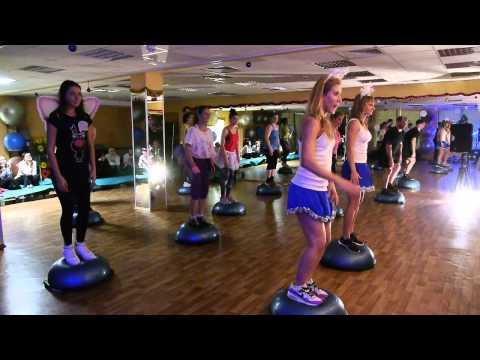 """Fitness House на Чкаловской. 20.12.2014. Мастер-класс """"BOSU."""