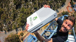 THERE'S NO WAY! Can An Xbox One Survive A 45m (150ft) Drop?