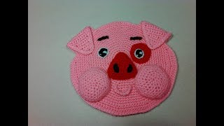 Прихватки - порося Пухля, 1 ч.. Pothook is a piggy Poohlya, р. 1. Amigurumi. Crochet.