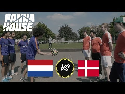HOLLAND VS DENMARK STREET FOOTBALL MATCH Pannahouse VLOG #14
