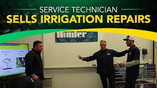 Service Technician Sells Irrigation Repairs