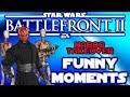 Star Wars Battlefront 2 Funny Moments - Roger Droids, Darth Maul Ambush, Galactic Assault, PS4