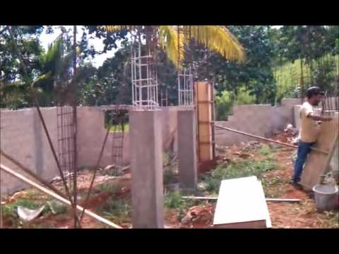 House building in jamaica part 1 youtube for Building a house where to start