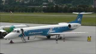 Rare! Dniproavia Embraer EMB-145EP [UR-DNP] visits Innsbruck
