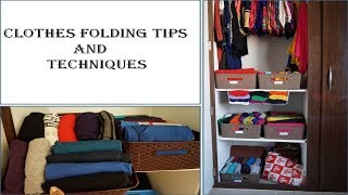 Clothes Folding Tips and Tricks-Indian And Western   How To Fold   Clothes folding hacks and Ideas