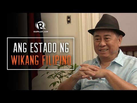Ang estado ng wikang Filipino (The state of the Filipino language)
