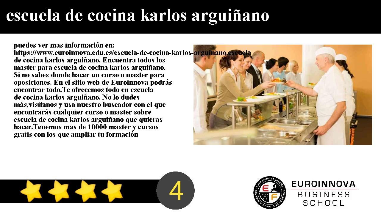 Escuela de cocina karlos argui ano youtube for Escuela de cocina