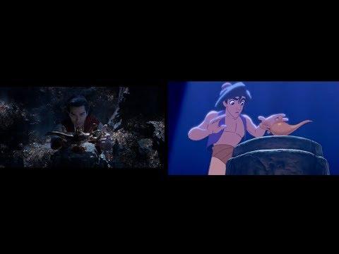 Aladdin  Official Trailer #1 2019 VS 1992 Comparison - Comparación  