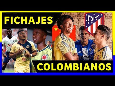 FICHAJES COLOMBIANOS EN EL EXTRANJERO - SELECCION COLOMBIA 2019