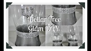 💎Dollar Tree Glam DIY 💎||Vase/Candle Holder💎