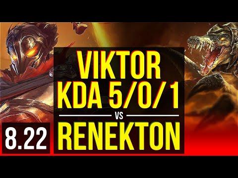 VIKTOR vs RENEKTON (TOP)   KDA 5/0/1   Korea Master   v8.22
