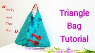 Fashion diy | Triangle bag tutorial ~Handmade with love【特别的手作包制作方法】#HandyMum ❤❤