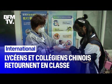 Coronavirus: lycéens et collégiens chinois retournent en classe