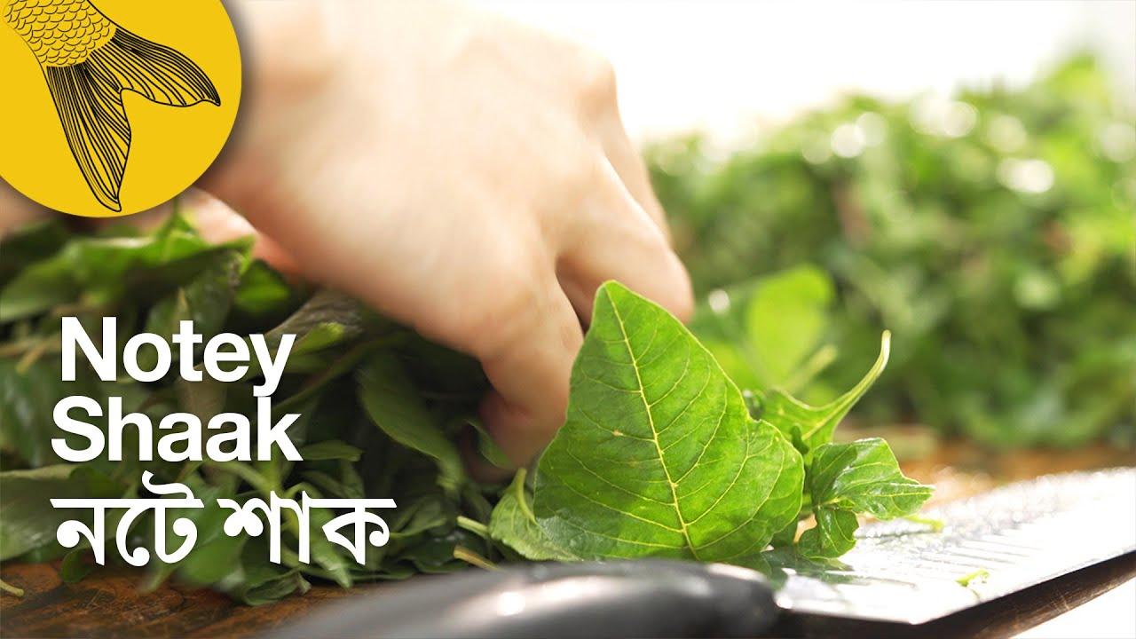 Notey shaak—Green Amaranth | Bengali leafy greens recipe