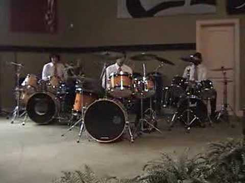 Drum Trio With Full Drumsets