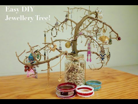 Easy DIY Jewellery Organiser Tree