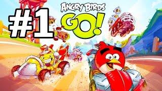Angry Birds Go! Геймплей Прохождение Часть 1  Gameplay Walkthrough Part 1(Добро пожаловать на трассы скоростного спуска Свинского острова! Почувствуйте кайф гонки вместе с птицами..., 2015-01-19T19:11:19.000Z)