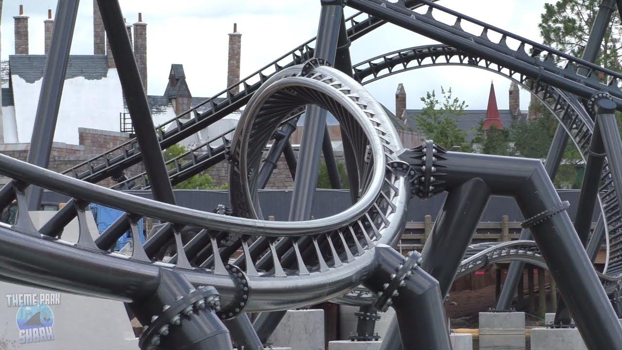 Jurassic Park Roller Coaster Construction, Bourne Stunt Show | Universal Orlando Reopens Update #2