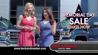 Beck & Masten North Memorial Day Sale Starts Now - Spot 1
