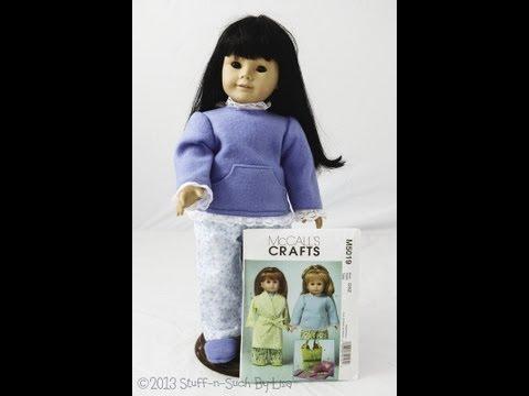 American Girl Pajama Set, McCalls M5019