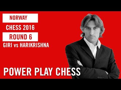 Norway Chess 2016 Round 6 Giri vs Harikrishna