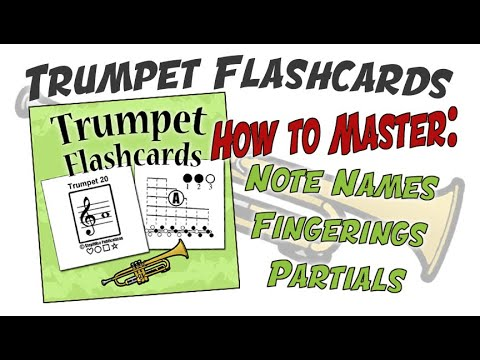 Trumpet Fingering Chart Flashcards - Youtube