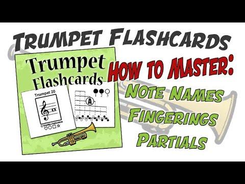 Trumpet Fingering Chart Flashcards - YouTube