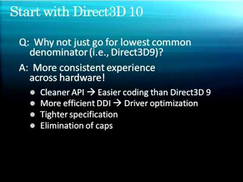 Windows 7: Unlocking the GPU with Direct3D - 1