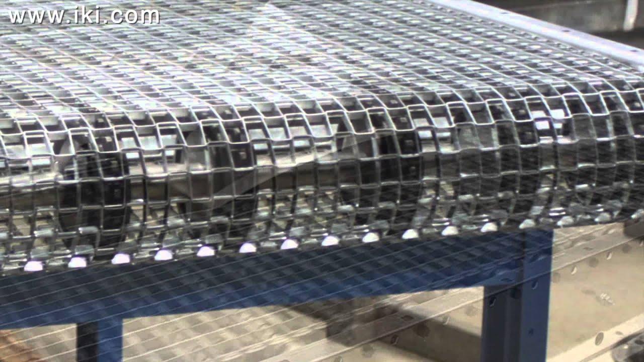 Wire Mesh Belt Conveyor - YouTube