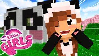 CONSTRUINDO A CASA DE PANDA KAWAII | Minecraft: MY LITTLE GIRLS #6