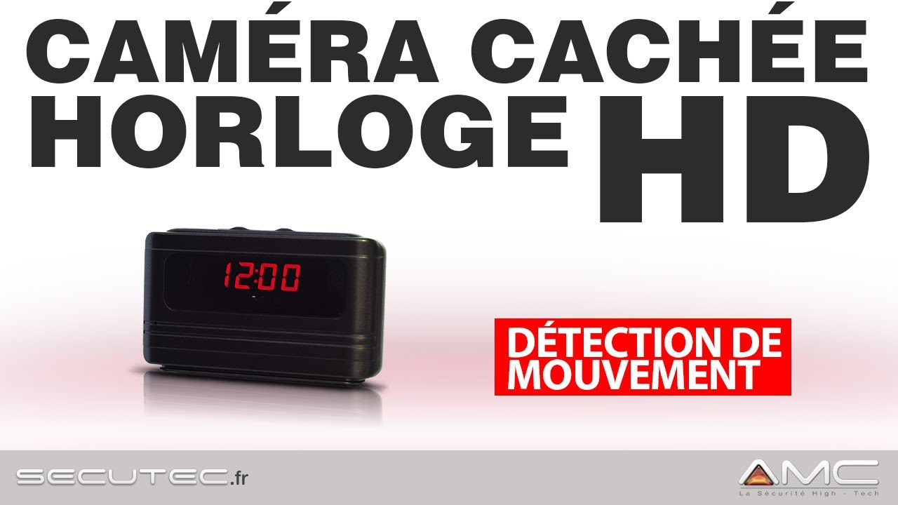 horloge de bureau camera espion hd autonome secutec fr. Black Bedroom Furniture Sets. Home Design Ideas