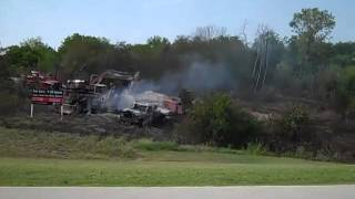 gas line explosion on hwy 5 east of u s 75
