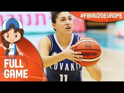 Germany v Slovak Republic - Full Game - FIBA U20 Women's European Championship 2017 - DIV B