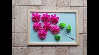 как сделать картину из бумажных цветов