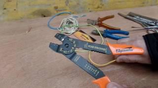Обзор не дорогих зачистных клещей для электро проводки