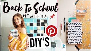 3 Back To School DIY's zum Organisieren für die Schule und Uni // I'mJette