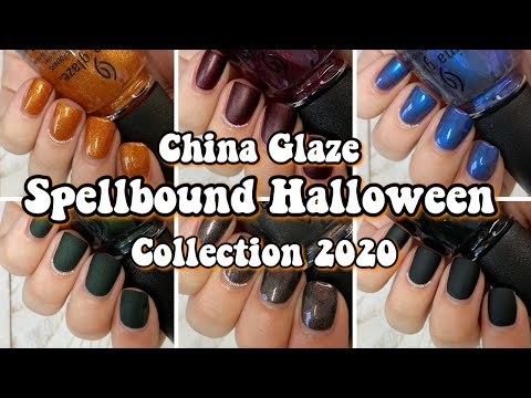 China Glaze Halloween 2020 Swatches China Glaze Spellbound Halloween Collection 2020 | Swatch & Review