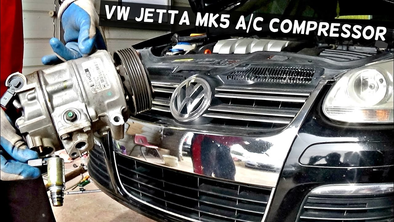 how to remove the a c compressor on vw jetta mk5 ac compressor [ 1280 x 720 Pixel ]