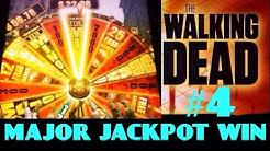 **The WALKING DEAD slot machine MAJOR JACKPOT LEVEL BONUS WIN!