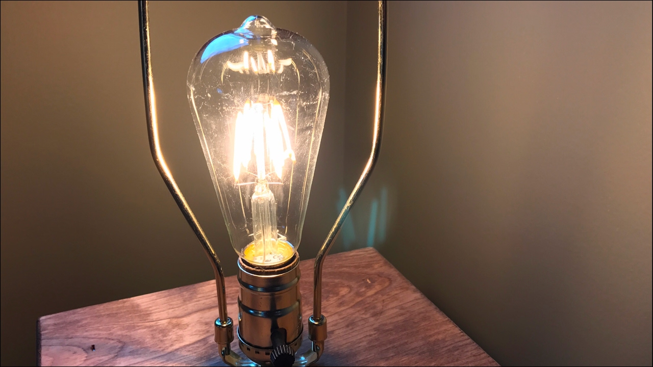 led vintage filament style edison light bulbs 4w st64 warm colour