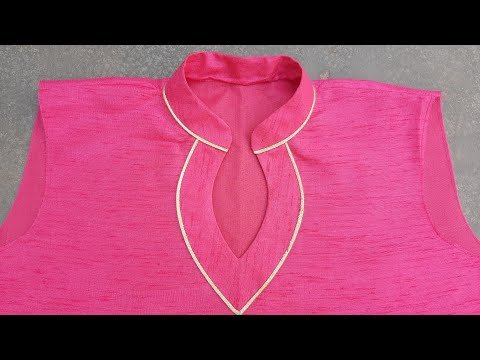 New Collar wala Neck Design/raund collar neck design/collar with piping  @Alvi Sisters