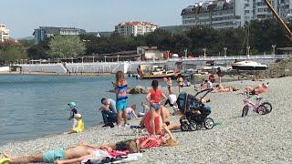 Геленджик. Погода 1 мая. Пляж Сады морей. Купаюсь и загораю
