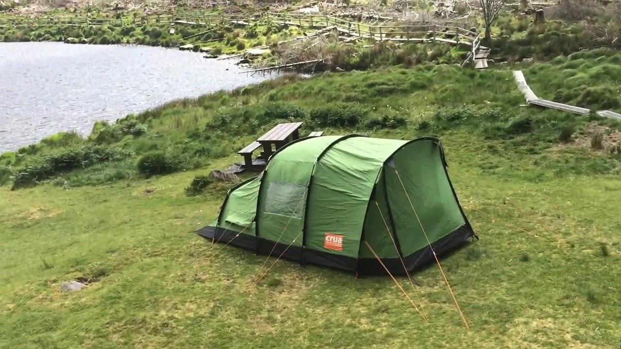 C&ing in high winds (50mph) Crua Tri insulated tent & Camping in high winds (50mph) Crua Tri insulated tent - YouTube