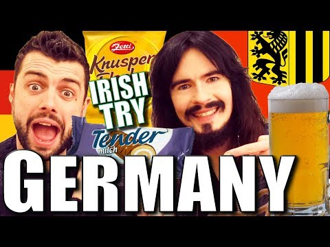 Irish People Try GERMAN - Snacks / Beer / Vodka / DANCE!!