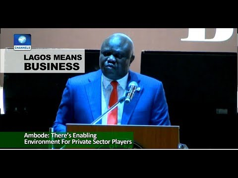 Ambode Asks Investors To Take Advantage Of Lagos Business Environment